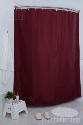Штора для ванной СК бордовая