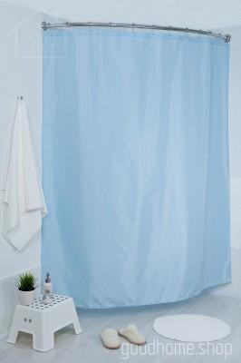 Штора для ванной голубая 180х200