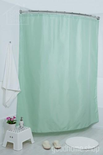Штора для ванной СК светло-зеленая