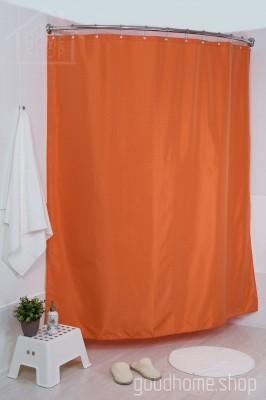 Штора для ванной терракот 180х200