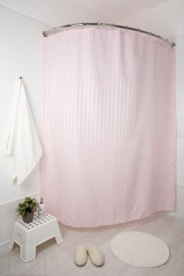 Штора для ванной Хилтон розовая 180х200