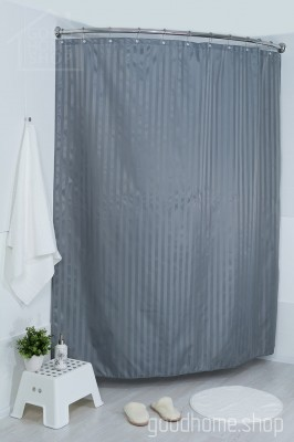 Штора для ванной Хилтон серая