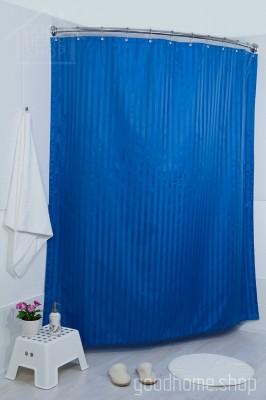 Штора для ванной Хилтон тёмно-синяя 180х200