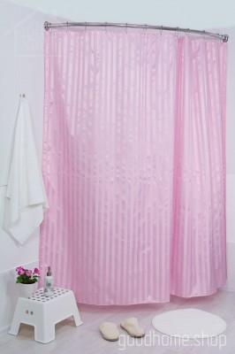 Штора для ванной большая розовая 240х200