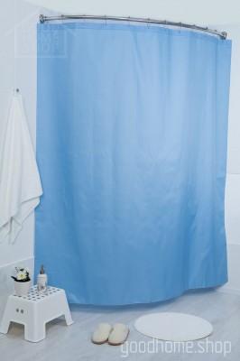 Штора для ванной Пузырьки голубая