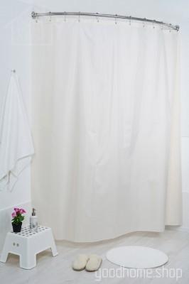 Штора для ванной Пузырьки бежевая
