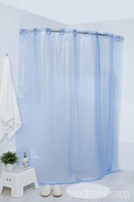 Штора для ванной 3Д голубая 180х200