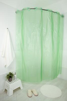 Штора для ванной 3Д зеленая 180х200