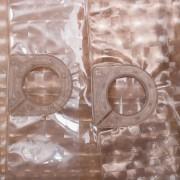 Штора для ванной 3Д коричневая