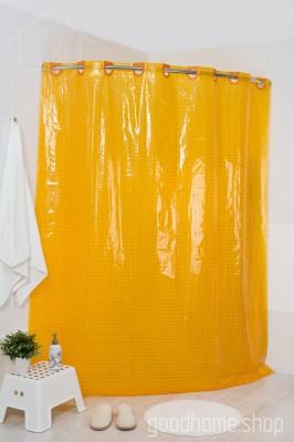 Штора для ванной 3Д оранжевая
