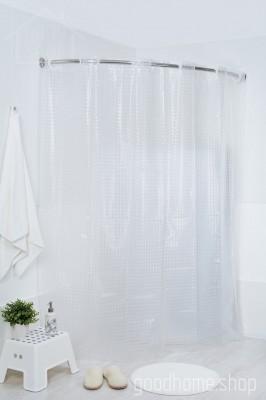 Штора для ванной 3Д прозрачная 180х200