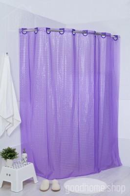 Штора для ванной 3Д фиолетовая
