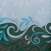 Штора для ванной Волны голубая