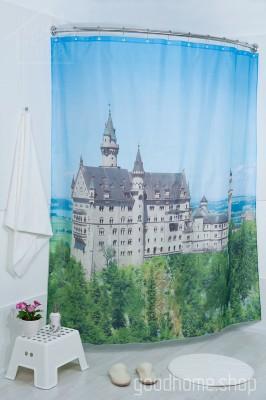Штора для ванной Германия фото 180х200 разноцветная