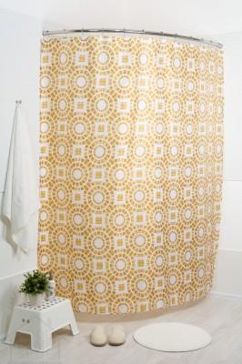 Штора для ванной Бейж сёркл 180x200
