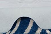 Коврик для туалета Узоры бежево - синий