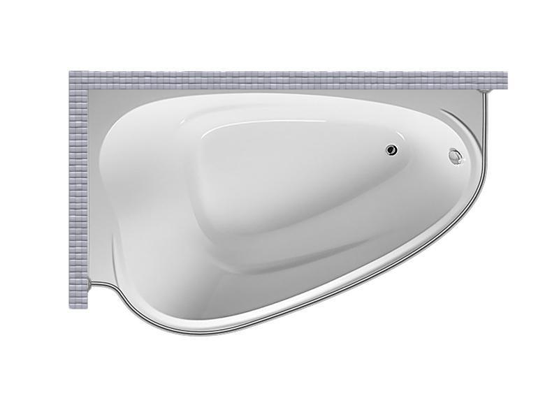 Карниз для ванной асимметричный